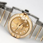 Omega Constellation Co-Axial 18KYG & SS Diamond 27mm...