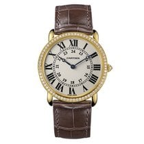 Cartier Ronde Louis Cartier 18K Solid Rose Gold Diamonds