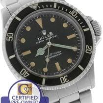 Rolex 1974 Submariner 5513 Serif Feet First Matte Black 1520...