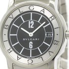 Bulgari Polished  Solotempo Stainless Steel Quartz Mens Watch...