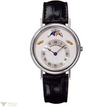 Breguet Classique Day/Date/Moonphase 18K White Gold Leather...