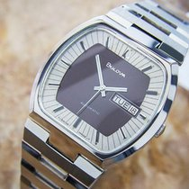 Bulova Stainless Steel Swiss Automatic 1970s Men's Dress...