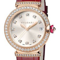 Bulgari Lucea Rose Gold Diamond Leather LUP33C6GDLD / 11