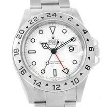 Rolex Explorer Ii Parachrom Hairspring White Dial Steel Watch...