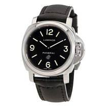 Panerai Luminor Base Logo Acciaio Black Dial Men's Watch