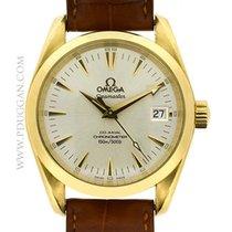Omega 18k yellow gold Seamaster Aqua Terra mid-size Chronometer