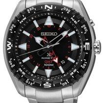 Seiko Mens Prospex Kinetic GMT - Black Dial - Stainless Steel...
