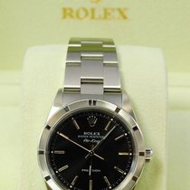 Rolex Air-King Stainless Steel Black Dial w/Box + Papers-14010M