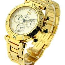 Cartier W30140D1 PASHA 38mm - Yellow Gold Chronograph -...