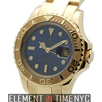 Rolex Yacht-Master 18k Yellow Gold Blue Dial 29mm Ref. 69628