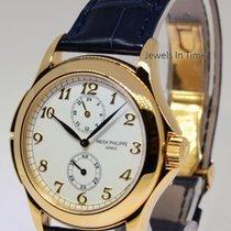 Patek Philippe Travel Time 18k Yellow Gold Mens Watch Box/Pape...