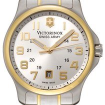 Victorinox Swiss Army Victorinox  Steel & Gold Plated Mens...