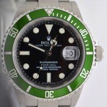 Rolex 16610LV Submariner 50th Anniversary Green M Serial...