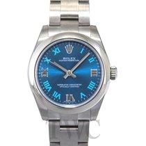 Rolex Oyster Perpetual Midsize Blue/Steel Roman Ø31 mm - 177200