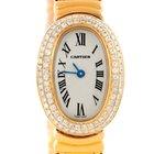 Cartier Baignoire 18k Yellow Gold Diamond Ladies Watch Wb5094d8