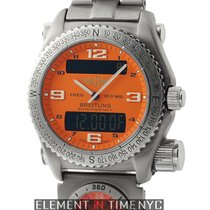 Breitling Emergency Co-Pilot UTC SuperQuartz Titanium 43mm...