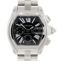 Cartier 2618 Roadster XL Black Chronograph Dial Watch