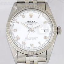 Rolex Datejust white roman Dial Jubile Stahl TOP Klassiker...