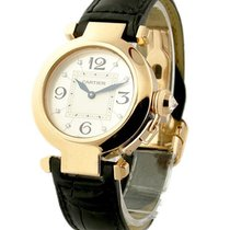 Cartier WJ11913G 32mm Pasha on Strap - Rose Gold with Silver...