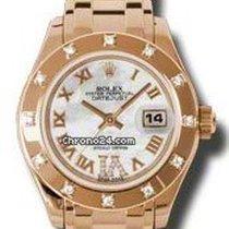 Rolex Datejust Pearlmaster, Ref.80315-weiß MOP römisch IV Dia. ZB