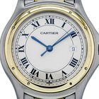 Cartier Cougar Steel And Yellow Gold Quartz Cream Dial...