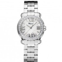 Chopard Happy Sport 30mm Diamonds Steel Lady