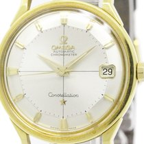 Omega Constellation Pie Pan Dial Cal 561 18k Gold Watch...