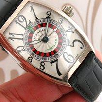 Franck Muller 5850 Vegas 18K White Gold Automatic Men Watch
