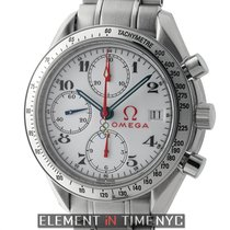 Omega Speedmaster Olympic Collection Timeless Steel 39mm White...