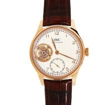 IWC Portuguese Tourbillon Hand-Wound Rose Gold Men's Watch...