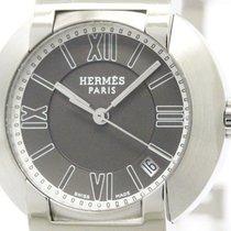 Hermès Polished Hermes Nomade Steel Auto Quartz Ladies Watch...