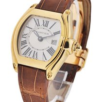 Cartier W62018Y5 Roadster - Small Size - Yellow Gold on Strap...