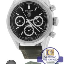 TAG Heuer Carrera CV2113-0 Automatic Chronograph 39mm Black Watch