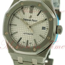 Audemars Piguet Royal Oak Ladies Automatic, Silver Dial -...
