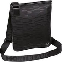 Montblanc 4810 WESTSIDE BLACK MISTERY CANVAS ENVELOPE BAG