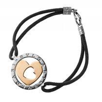 Bulgari Armband Herzdesign 18kt Gelbgold/ Stahl Textilarmband...