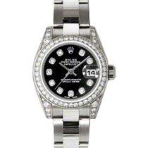 Rolex Lady-Datejust 26 179159-BLKDDO Black Diamond Dial...