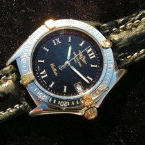 Breitling Callisto B64046 Schwarzes Zifferblatt Stahl Gold