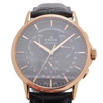 Edox Les Bémonts Perpetual Calendar Watch 01602 37R GIR