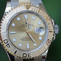 Rolex Mens Yachtmaster Yacht-master 16623 Champagne Gold Dial...