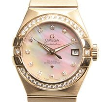Omega Constellation 18k Pink Gold White Automatic 123.55.27.20...