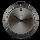 Rolex 18k White Gold Zephyr Silver Dial Disk Pendant Watch 3694