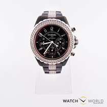 Chanel J12 Black Ceramic Diamond Chronograph Automatic