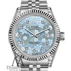 Rolex Woman's Rolex 26mm Datejust Ice Blue Flower Dial...