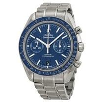 Omega Speedmaster Moonwatch Co-Axial Blue Dial Titanium Case...