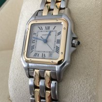 Cartier Panthere Gold Steel Two Tone Beige Roman Dial (35 x 26...