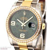 Rolex Datejust Ref-116243 18k Yellow Gold/Stainless Steel Box...