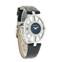 Valentino Diamond Vanity Ladies Black Leather Quartz Watch...