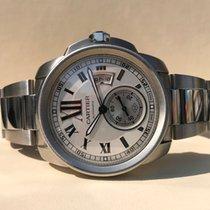 Cartier Calibre de Panoramic Date Large Steel 42 mm (Full Set...