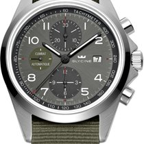 Glycine 3924-10AT-TB2 Combat Automatic Chronograph Green Strap...